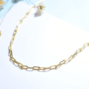 925 Sterling Silver Paperclip Necklaces