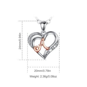 A Rose Gold Heart Pendant Necklace