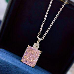 Diamond Pendant Necklace Sparkling Jewelry