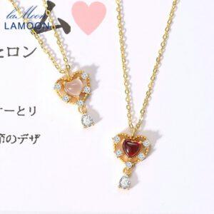Quartz Necklace Sweet Heart Pendant