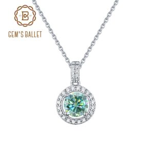 925 Sterling Silver Moissanite Necklace
