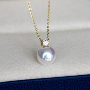 18k Gold Natural Pearl Pendant Necklace