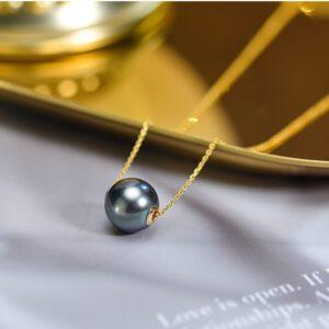Tahitian Black Pearl Necklace Pendant