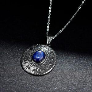 Classic Oval Kyanite Pendants Necklaces