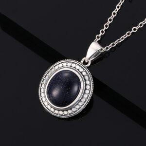 Big Natural Moonstone Pendant Necklace