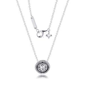 Double Halo Collier Pendants Necklaces