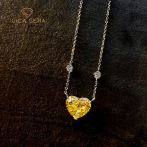 Pink Diamond Heart Pendant Necklace