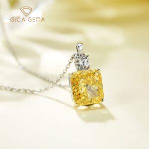 Silver Sparkling Diamond Pendant Necklace