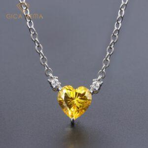 Heart Created Diamond Pendant Necklace