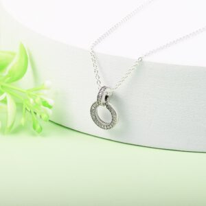 Sterling Silver Clear CZ Necklaces