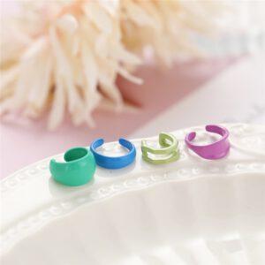 Bohemian Colorful Resin Clip Earrings