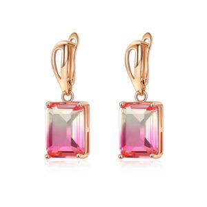 Birthstone Copper Pendants Clips Earrings