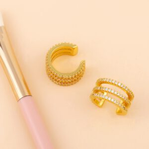 Crystal Clip Earrings Without Piercing