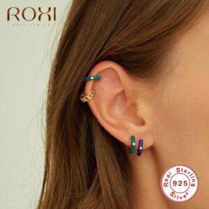 Enamel Stud Earrings Circle Jewelry