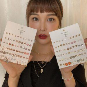 Fashion Korean Sweet Flower Earrings