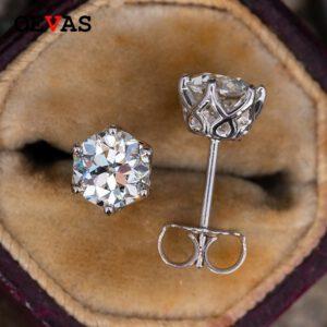 1 Carat Moissanite Stud Earrings