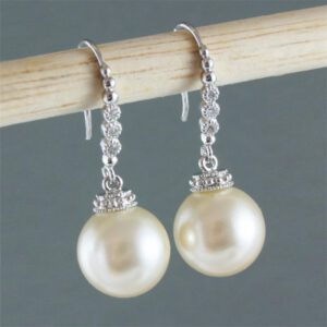 Chic Imitation Pearl Dangle Earrings