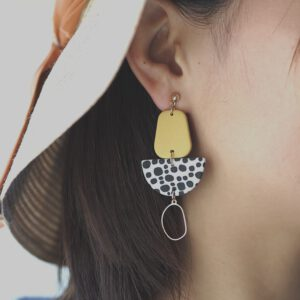 Fashion Foil Polymer Clay Earrings
