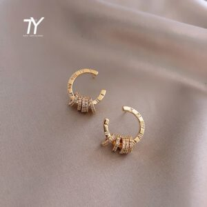 Classic Roman Digital Stud Earrings