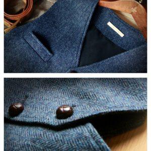 Woolen Blended Vest Denim Waistcoat