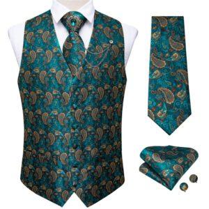 100% Silk Formal Dress Vest