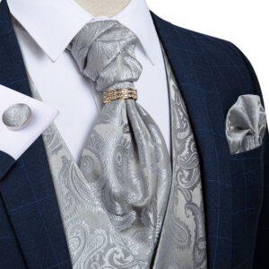 Floral Silk Vest Wedding Waistcoat