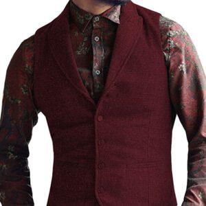 Casual Business Wool Herringbone Vest