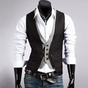 Casual Business Vest Men Waistcoat