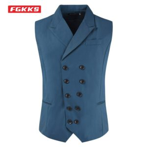 Fashion Suit Vest Double Breasted