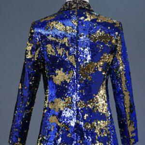 Luxury Sequin Blazer Nightclub Suit