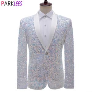 Luxury Sequin Glitter Tuxedo Blazer